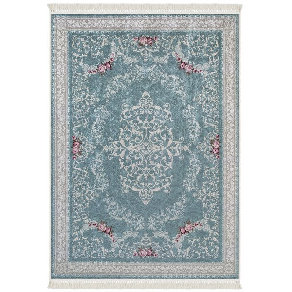 Upper Swainswick Teal Area Rug by Ophelia & Co.