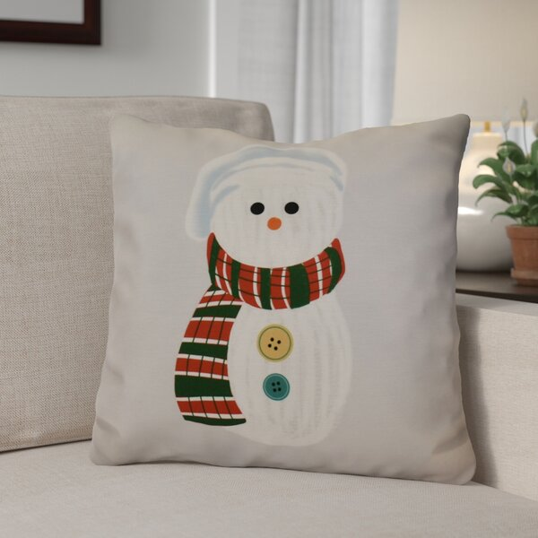Sock Snowman Throw Pillow by The Holiday Aisle
