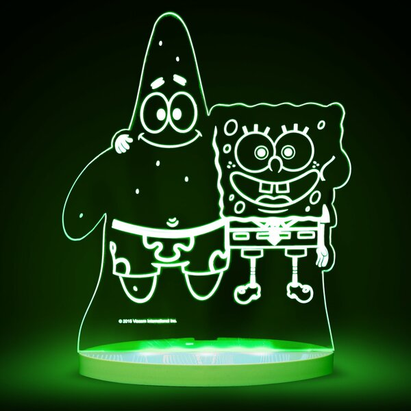 Nickelodeon SpongeBob SquarePants and Patrick LED 3-Light Night Light by CompassCo