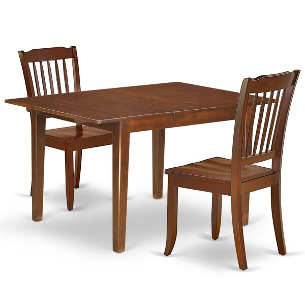 Kranz 3 Piece Extendable Solid Wood Dining Set by August Grove