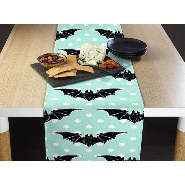 Espada Halloween Bats and Dots Milliken Signature Table Runner by The Holiday Aisle