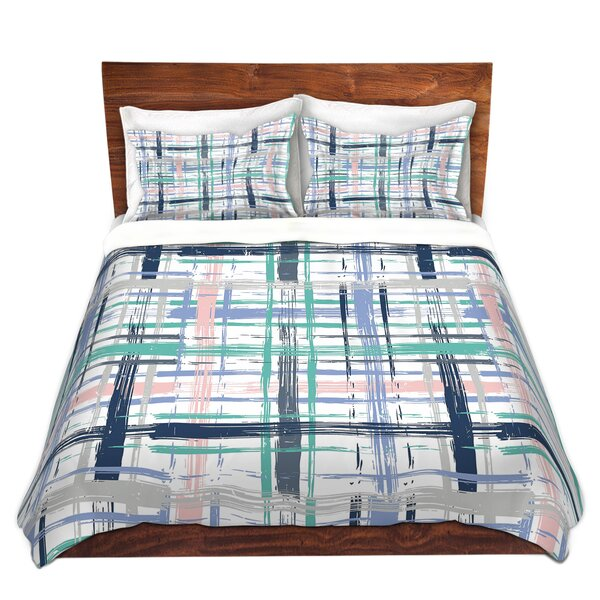 Plaid Duvet Cover Set