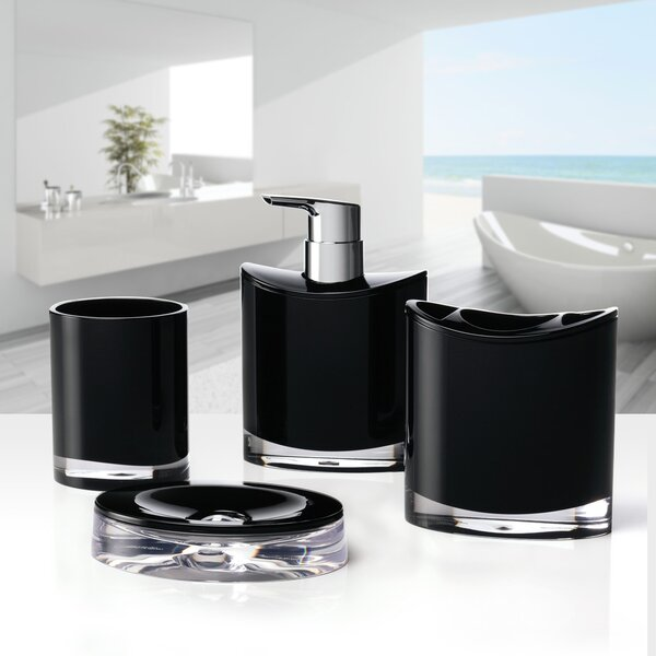 Optic 4-Piece Bathroom Accessory Set by Immanuel