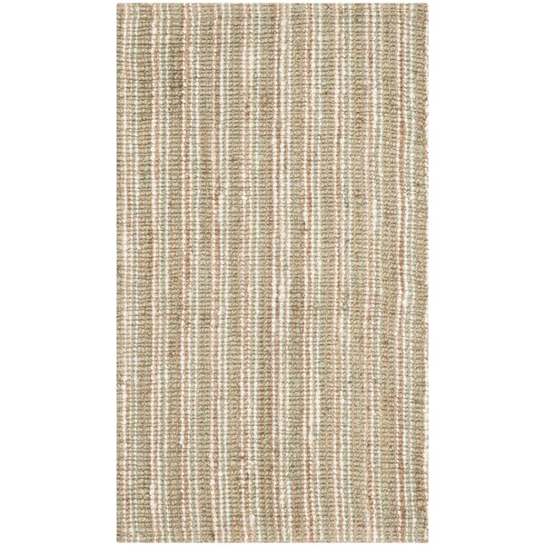 Bergeson Hand-Woven Sage/Natural Area Rug by Darby Home Co