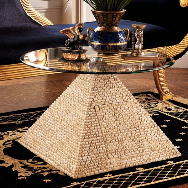 Egyptian Pedestal Coffee Table By Design Toscano