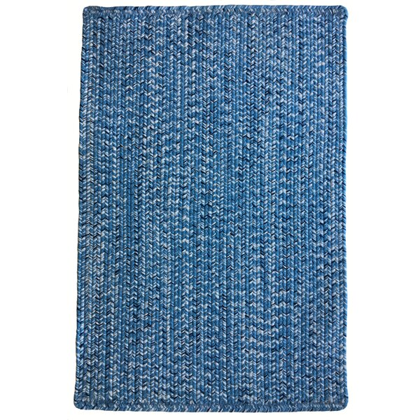 One-of-a-Kind Aukerman Hand-Braided Light Blue/Navy Indoor/Outdoor Area Rug by Isabelline