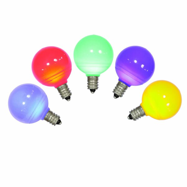 96W Multi E12 LED Light Bulb (Set of 5) by Vickerman