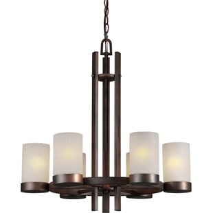 Price Check Mcmahan 6-Light Shaded Chandelier By Ebern Designs