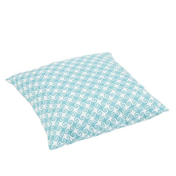 Estelle Waves Square Indoor/Outdoor Floor Pillow by Bayou Breeze