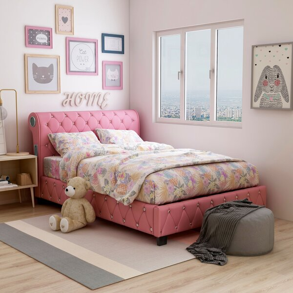 Jacinda Upholstered Platform Bed by Hokku Designs