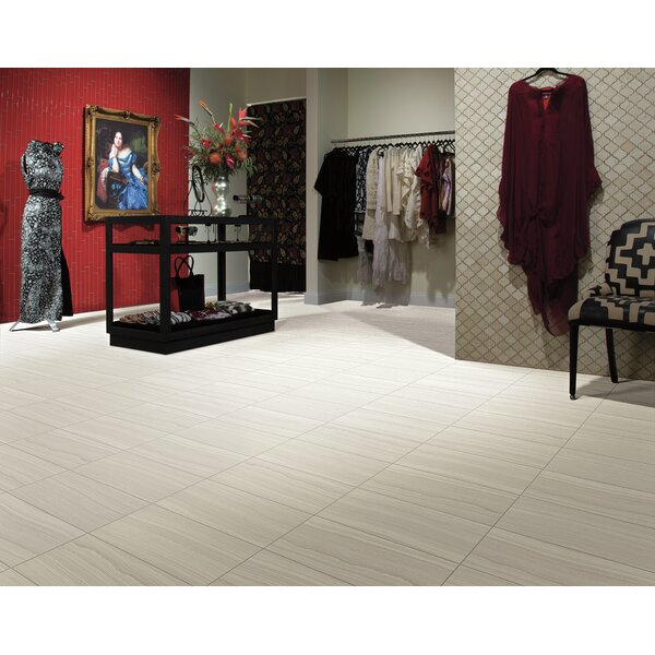Austin 12 x 24 Porcelain Wood Look Tile in Bianco by Itona Tile