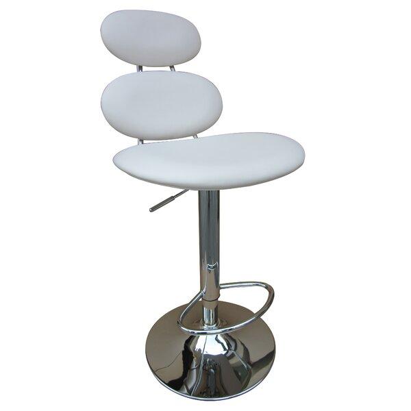 Stefano Adjustable Height Bar Stool by Orren Ellis Orren Ellis