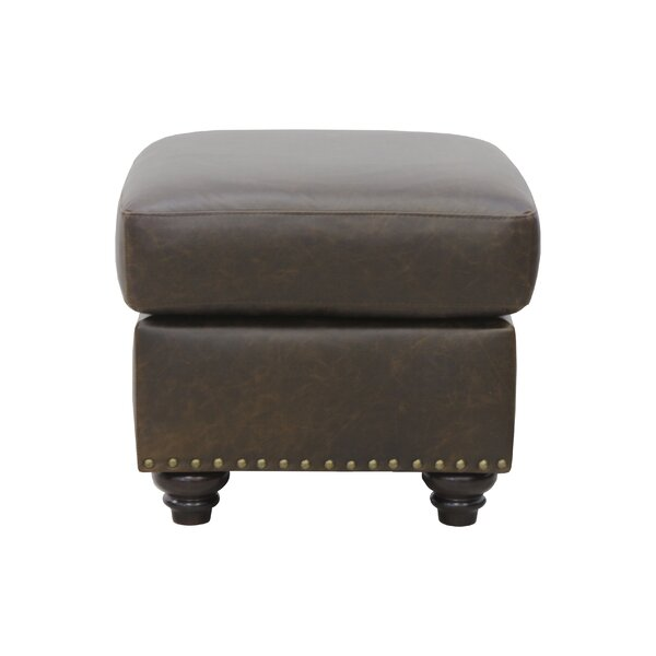 Bucoli Leather Ottoman by Williston Forge