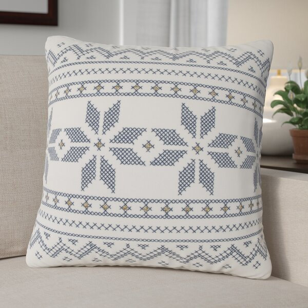 Geometric Cotton Throw Pillow by The Holiday Aisle