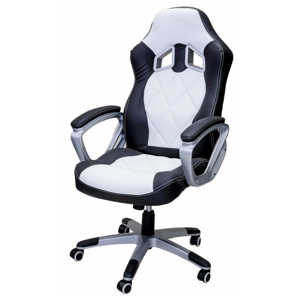 Chaubal Gaming Racing Style High-Back Executive Chair by Ebern Designs