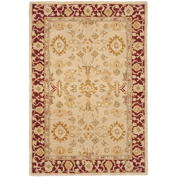 Anatolia Ivory & Red Area Rug by Safavieh
