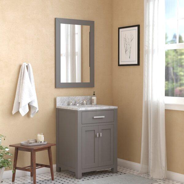 Raven 30 Single Bathroom Vanity Set with Mirror by Andover Mills