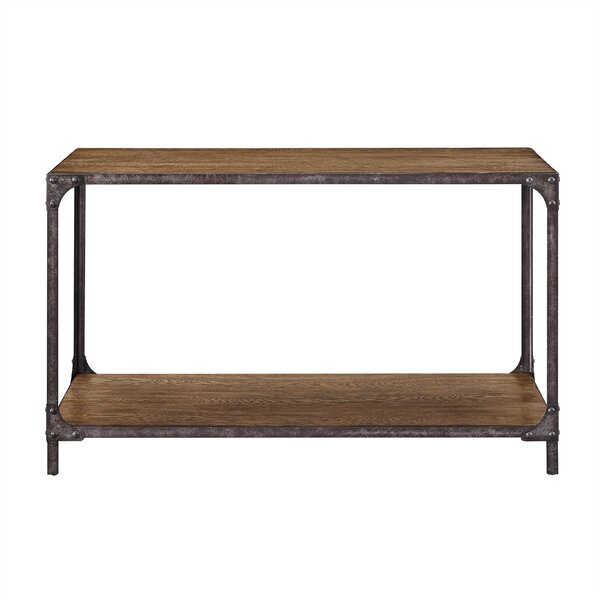 Danette Wood And Metal Console Table By Williston Forge