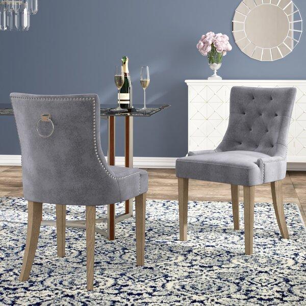 Review Lenoir Velvet Upholstered Dining Chair