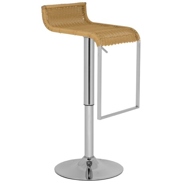Zandrea Adjustable Height Swivel Bar Stool by Safavieh