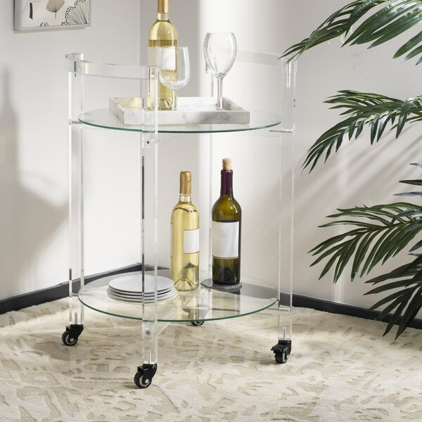 Slattery Acrylic Bar Cart by Orren Ellis Orren Ellis