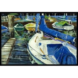 Night on the Docks Sailboat Doormat