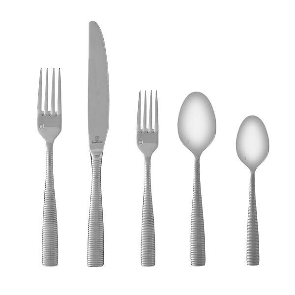 Ringo 5 Piece 18/10 Stainless Steel Flatware Set by Fortessa