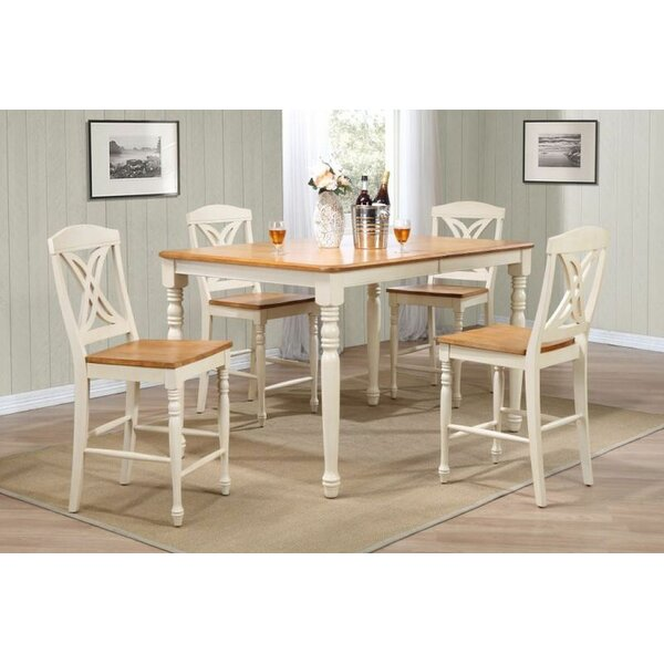 Ferguson 5 Piece Extendable Solid Wood Dining Set by One Allium Way One Allium Way