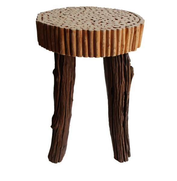 Reclaimed Wood Modern Bubble Stool by Asian Art Imports