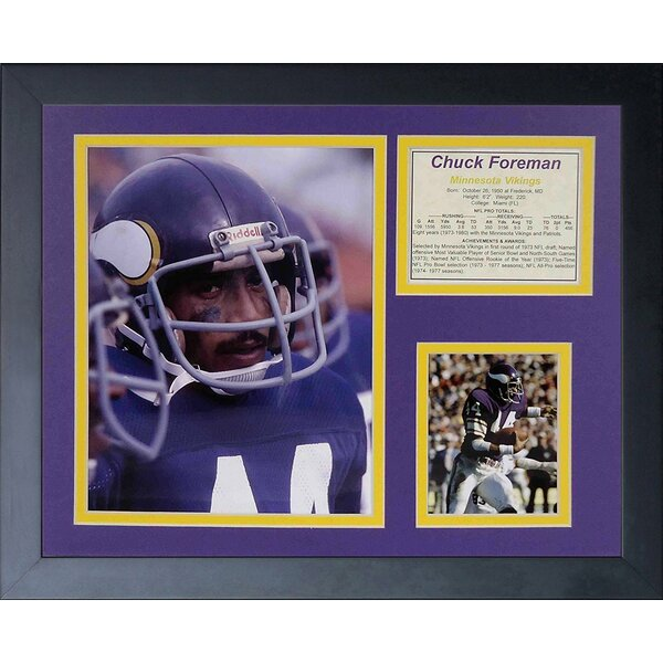 Chuck Foreman Framed Memorabilia by Legends Never Die