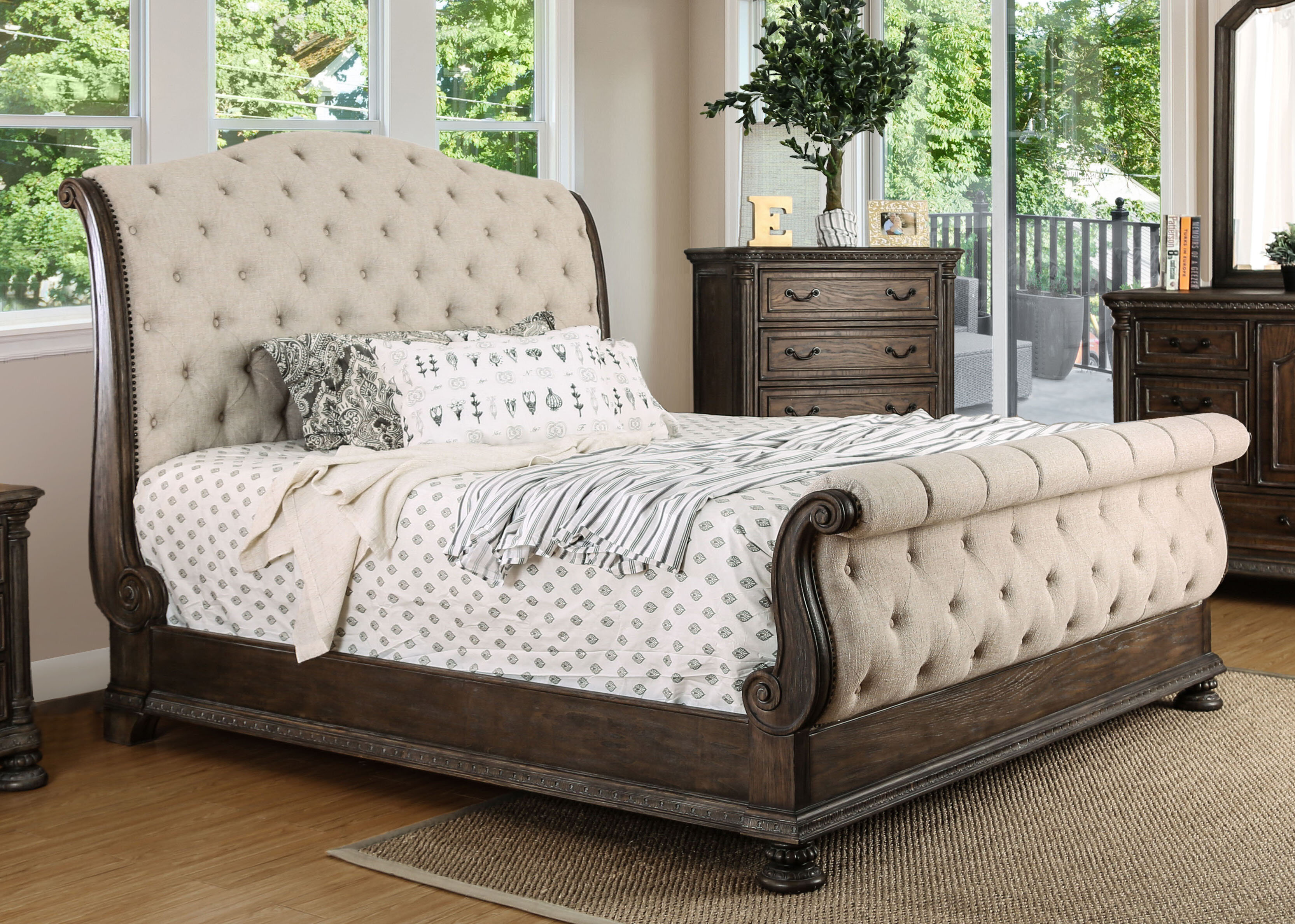 with bed headboard by hooker tufted adagio sleigh king pin and furniture upholstered