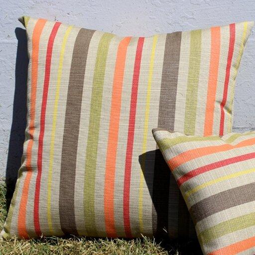 Cherryville Indoor/Outdoor Sunbrella Throw Pillow by Red Barrel Studio