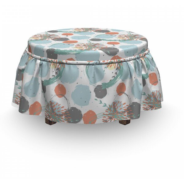 Petals Ottoman Slipcover (Set Of 2) By East Urban Home