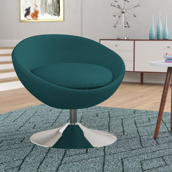 Garlock Swivel Papasan Chair by Orren Ellis