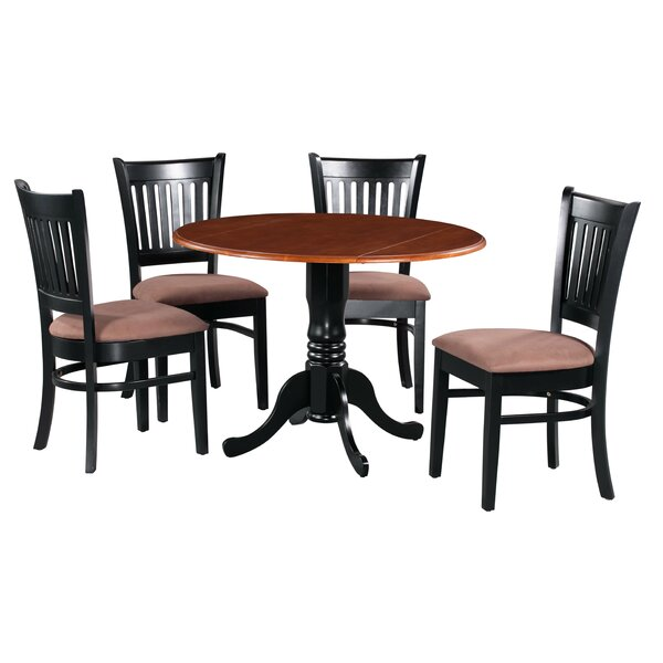Sickles 5 Piece Drop Leaf Solid Wood Dining Set by August Grove
