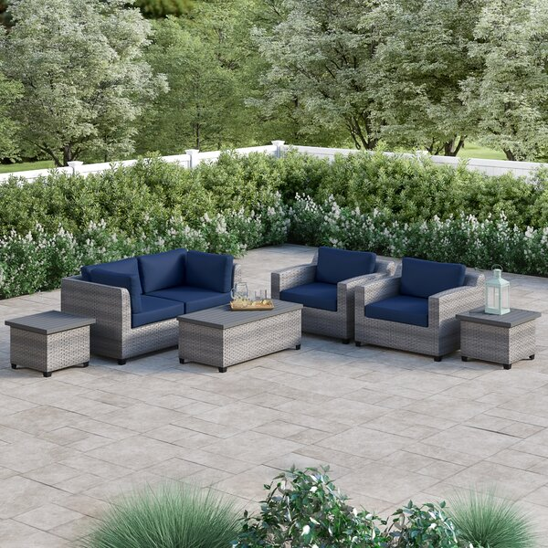Merlyn 7 Piece Sofa Seating Group with Cushions by Sol 72 Outdoor
