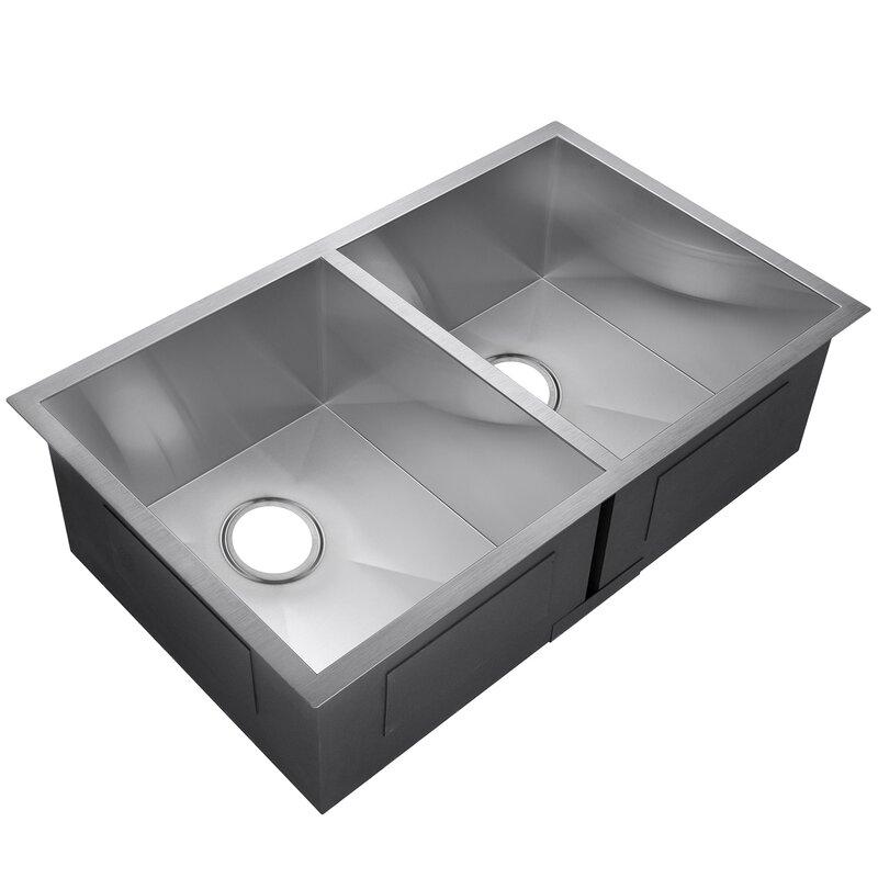 33x22 Double Bowl Kitchen Sink Kitchen Design Ideas