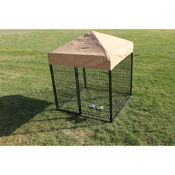 Modular Complete Welded Wire Steel Yard Kennel by K9 Kennel