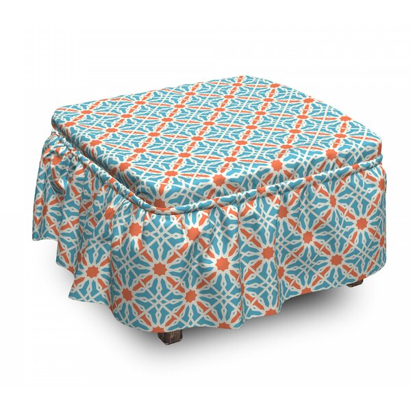 Lattice Moroccan Ottoman Slipcover (Set Of 2) By East Urban Home