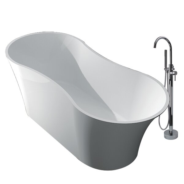 Muse 64.17 x 28.74 Freestanding Soaking Bathtub by Transolid