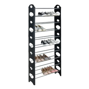 10 Tiers 50 Pair Shoe Storage Cabinet