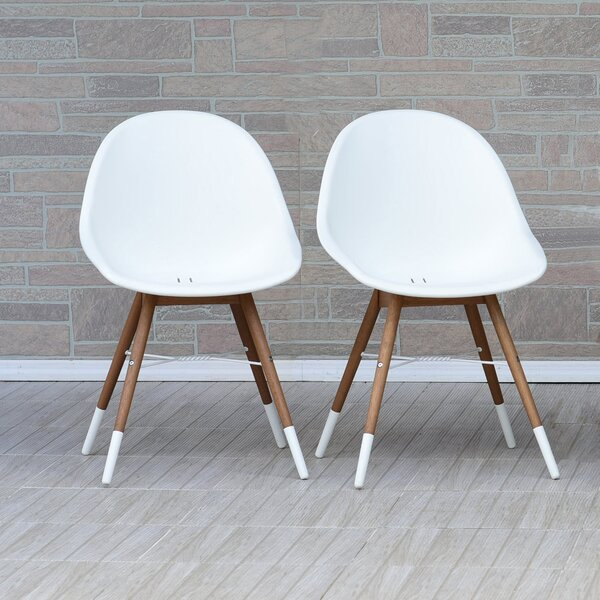 Kia Teak Patio Dining Chair (Set of 2) by Wrought Studio Wrought Studio