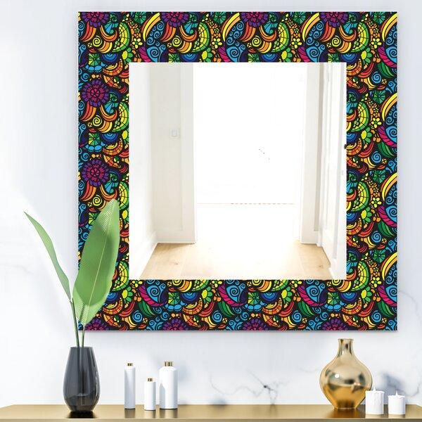 Obsidian Bloom 11 Bohemian and Eclectic Bathroom/Vanity Mirror