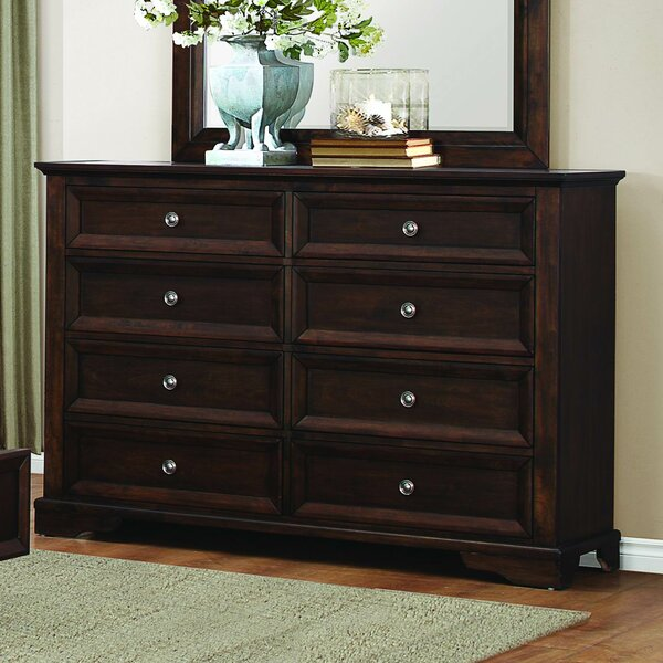 Eunice 8 Drawer Double Dresser by Homelegance