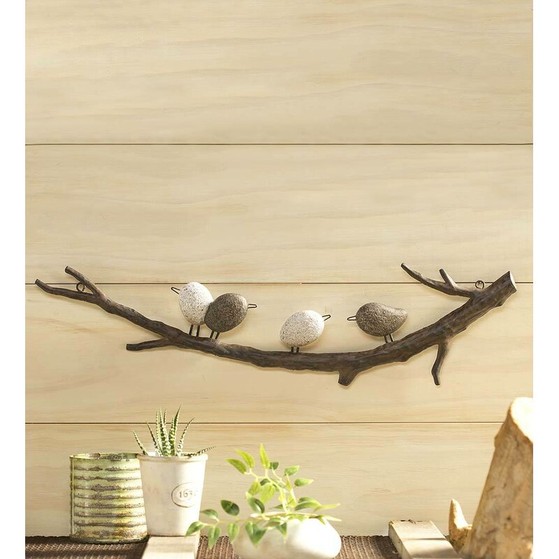 Wind & Weather 4 Birds on a Branch Wall Décor & Reviews | Wayfair