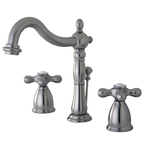 Heritage Widespread Bathroom Faucet with Double Cr