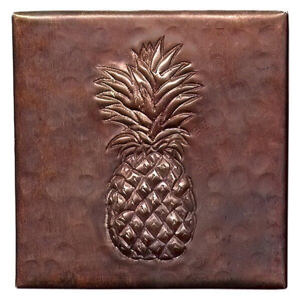 Pineapple 4 x 4 Copper Tile in Dark Copper by D'Vontz