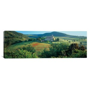 Panoramic Abbazia Di Sant Antimo, Tuscany, Italy Photographic Print on Canvas by iCanvas