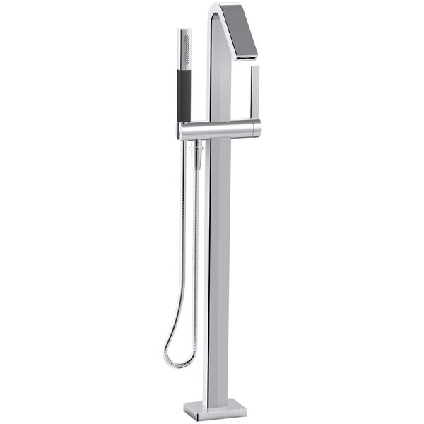 Loure Floor Mount Bath Filler with Hand Shower by