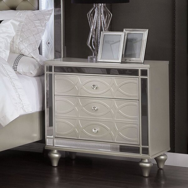 Cade 3 Drawer Nightstand By Rosdorf Park by Rosdorf Park Amazing